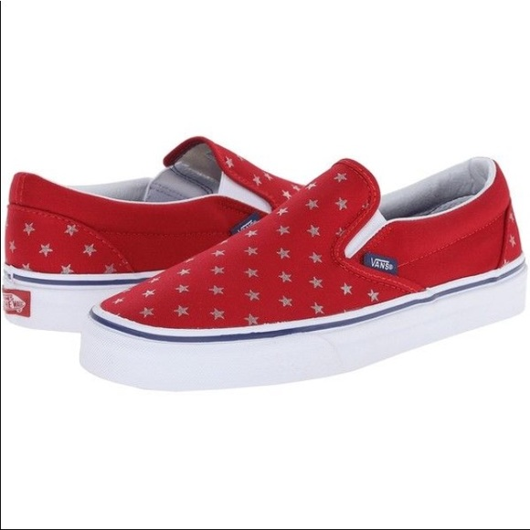 a62413beea Vans Classic Slip On Foil Star toddler shoes NIB